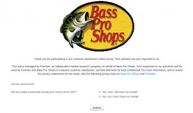 Bass Pro Shops Survey