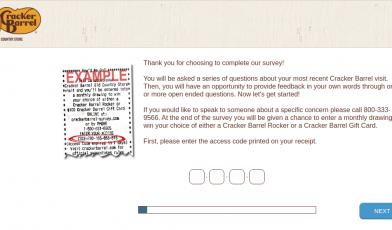 Cracker Barrel Survey