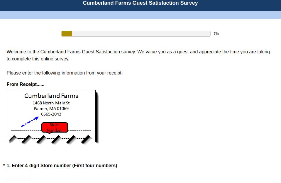 Cumberland Farms Guest Satisfaction Survey