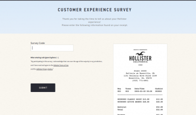 Hollister Survey