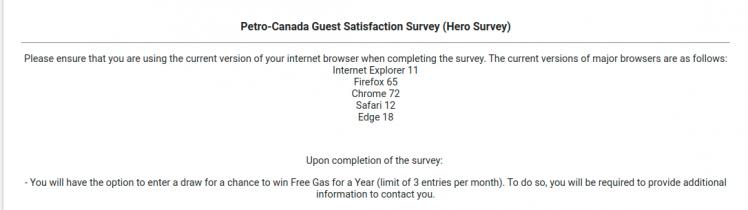 Petro-Canada Guest Survey