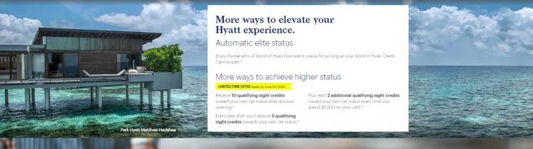 hyatt credit card Bonus Offer