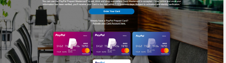 paypal prepaid mastercard sign in