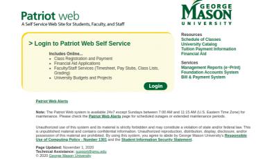 Patriot Web Login