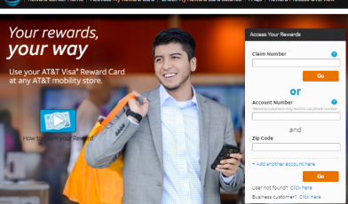 AT&T Reward Card portal