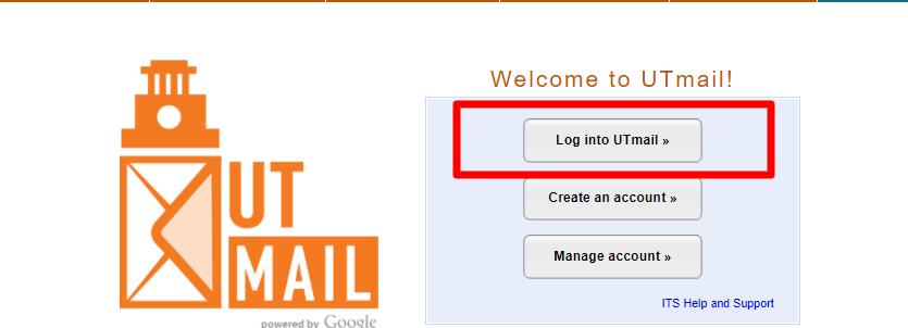 UTMail login