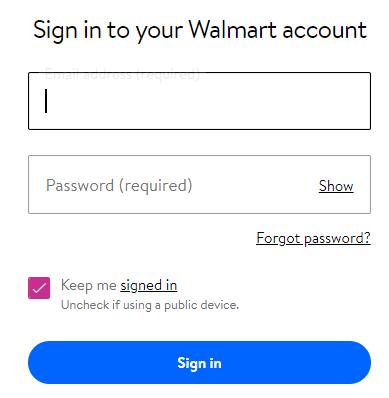 walmart credit card login