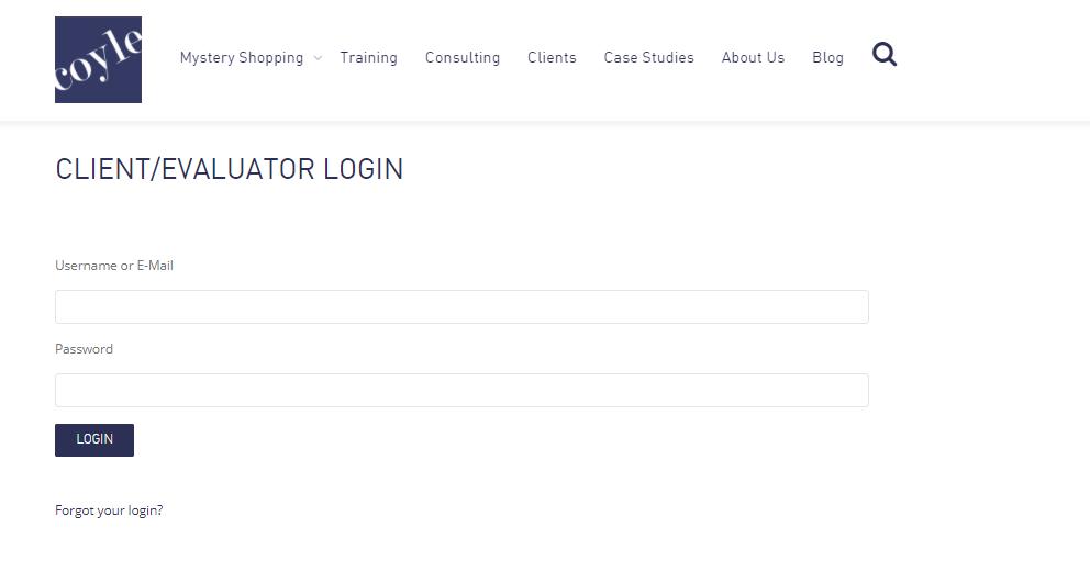 Client Evaluator Login