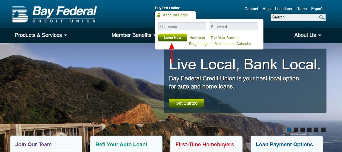 bay federal credit union login